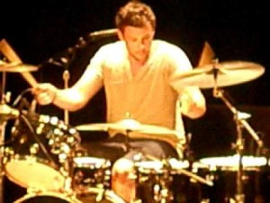 performing live drummer